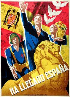 «Ha llegado España» Cartell d'autor desconegut. 1939 (CRAI Biblioteca Pavelló de la República UB)