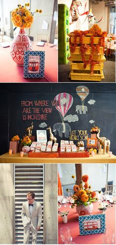 From where we are... hot air balloons.  Amazing wedding by Amorology via Style Me Pretty