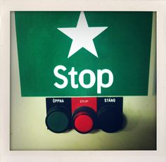 Stop. Digital Polaroid.  As seen in photostudio of Volvo Cars, Gothenburg, Sweden.