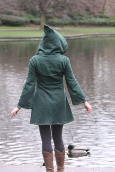 Elven tunic for women Medieval tunic Pixie hoodie Psy by tatoke, $125.00