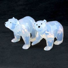 Swarovski 2011 Polar Bear Cubs Figurines #1080774 SCS Retired DISPLAY MODEL Swarovski Crystal Figurines, Swarovski Crystals, Bear Cubs, Bears, Cut Glass, Glass Art, Glass Figurines, Glass Animals, Crystal Collection