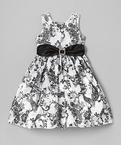 Take a look at this Pewter Paisley Sweetheart Dress - Toddler & Girls by Jayne Copeland on #zulily today!