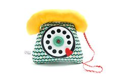 Give little kids a taste of the past with a squishy rotary telephone all their own.