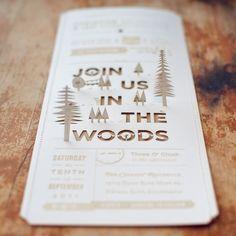 woods wedding invite.