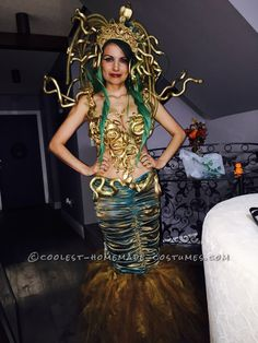 Beautifully Crafted Sexy Medusa Costume... Coolest Halloween Costume Contest