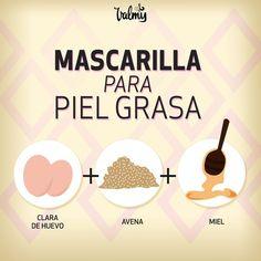 Mascarilla para piel grasa Mask for oily skin Beauty Care, Diy Beauty, Beauty Skin, Beauty Hacks, Beauty Secrets, Beauty Products, Facial Tips, Facial Care, Skin Tips