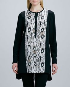 Snake-Print Tunic  by Magaschoni at Neiman Marcus Last Call.