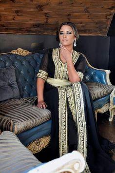 🥀Black and gold Moroccan caftan Kaftan Abaya, Caftan Dress, Kimono, Morrocan Dress, Kaftan Moroccan, African Fashion, Indian Fashion, Emo Fashion, Caftan Gallery