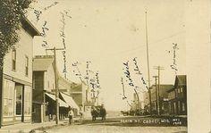 1908 Cadott Wisconsin Main St. pioneer RPPC