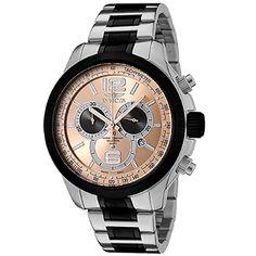 Montre Invicta Specialty Homme 0079 - Quartz - Chronographe - Bracelet et Cadran en Acier inoxydable Noir et Argent - Date - Etanche 10 bars