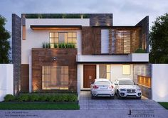 Contemporary house design - Contemporary House Design By JI Architects 12 Marla House Design Villa Moderne, Modern Villa Design, Contemporary Design, House Outside Design, House Front Design, 2 Storey House Design, Bungalow House Design, Modern Bungalow Exterior, Front Elevation Designs