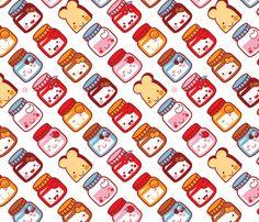 Bread for breakfast! fabric by bora on Spoonflower - custom fabric