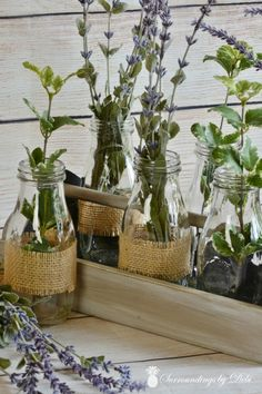 Small Crate Update - Faux Herbs Added - Surroundings by Debi