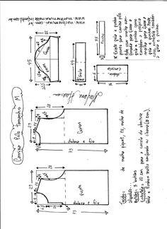 d8f1a9b3f7b93 Esquema de modelagem de camisa pólo masculina tamanho M.