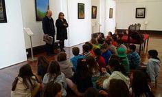 Alunos de Santa Luzia visitaram exposição de António Balsinhas