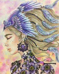 "363 Likes, 30 Comments - Moon Gee (geesl) (@moongeemg) on Instagram: ""#summernights #hannakarlzon #hannakarlzonsommarnatt #colourpencils #colorpencils #colouringbooks…"""