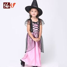 Halloween/ Christmas Cosplay Dress Girls Costumes Kids Party Dresses Children Fancy Clothes Witch Performance Outfits B085(China (Mainland))