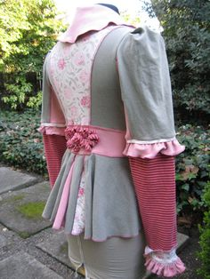 rose & ash frock / recycled cotton jacket by CouturierFaerieVerte