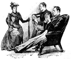 "Holmes shook his head gravely"" — illustration to Arthur Conan ..."