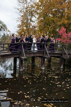 Wedding Party Mill Race Village Wooden Bridge Photo In Northville Michigan By Http