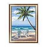 #7: Lulujan DIY 5D Sea View Diamond Painting Kit Beach Scenery Embroidery Cross Stitch Educational Toy Home Wall Decor