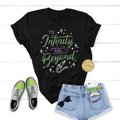 To Infinity And Beyond - Toy Story Shirt - Magical Glitter Shirt Disney World Outfits, Disney Inspired Outfits, Disney Style, Disney Fashion, Disneyland Outfits, Disney Day, Cute Disney, Walt Disney, Disney Family