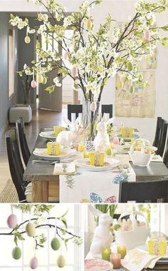 Faire un arbre de Pâques c'est facile, original et élégant pour décorer sa table de Pâques.