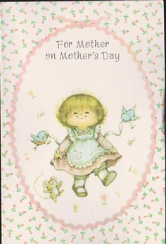 li'l punkin MOTHERS DAY greeting CARD Old Stock Unused Vintage 1970-80s - Have a Daisy of a Day ....