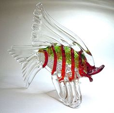 60 s Murano Glas FISCH ° Gold Staub ° Cenedese -  murano art glass fish