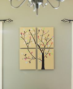 With Bible verses for girls' room. DIY Pottery Barn Tree Canvas