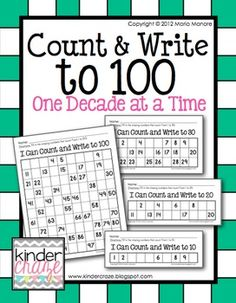Count and Write to 100. Get ready for the 100th Day! $2.50