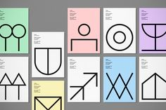 It's Nice That | Back to basics with Davide Di Gennaro's symbol-heavy design workshop identity