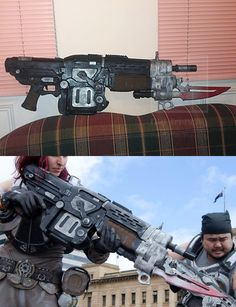 Pendulum Wars Retro Lancer from 'Gears of War 3'. Made primarily of EVA and craft foam as a birthday present for my best friend at the time. One of my favourite items I've made. Second photo courtesy of I Got Superpowers
