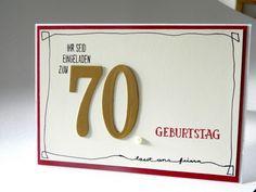 Einladung zum 70. Geburtstag - Judiths Papierträume