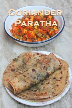 Delicious coriander paratha which is so good. It is a great lunch box recipe. Lunch Box Recipes, Veggie Recipes, Breakfast Recipes, Vegetarian Recipes, Cooking Recipes, Indian Bread Recipes, Indian Breads, Gujarati Recipes, Pakistani Recipes
