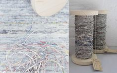 Yarn made of newspapers