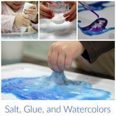 Salt and Watercolor Art