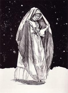 Night, 2002. Paula Rego.