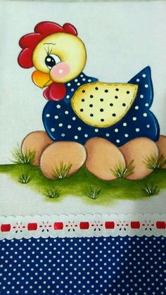 Most up-to-date Photo Fabric painting textiles Thoughts , Quilt Block Patterns, Applique Patterns, Applique Quilts, Craft Patterns, Tole Painting, Fabric Painting, Artist Painting, Chicken Crafts, Chicken Art