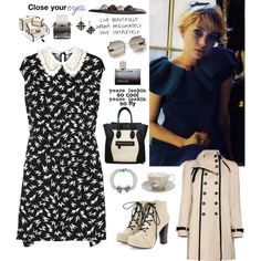 Michelle Williams, created by #misslenny on #polyvore. #fashion #style Miu Miu #Mango