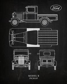 Ford Model B Pickup Print By Mark Rogan