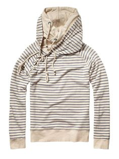 Sailor lace up sweat with double hood - Sweaters - Official Scotch & Soda Online Fashion & Apparel Shops