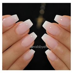 36 Amazing French Manicure Designs Cute French Nail Art ❤ liked on Polyvore featuring beauty products, nail care, nail treatments and nails