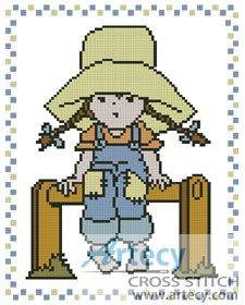 Little Sarah 4 Counted Cross Stitch Pattern http://www.artecyshop.com/index.php?main_page=product_info&cPath=19_22&products_id=1068