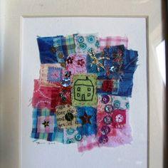 Framed miniature patchwork piece £25.00