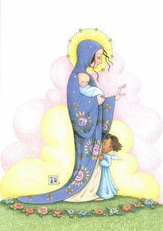 Mary Engelbreit Mary Angel Baby Christmas Card New | eBay