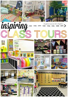 Inspiring Class Tours. Great ideas for setting up and decorating a classroom!