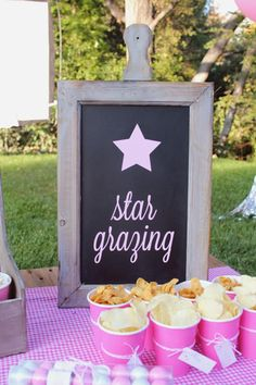 Under the Stars Tween / Teen Girl Birthday Party via Karas Party Ideas #star #sparkle #tween #pink #girl #birthday #party #idea (44)