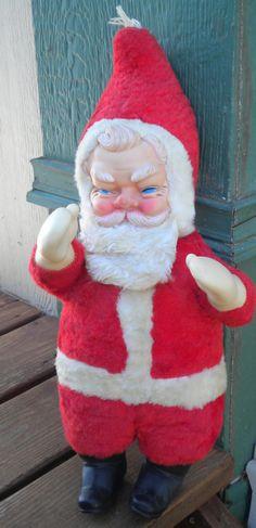 cute rushton doll cocacola santa claus z - Stuffed Santa Claus
