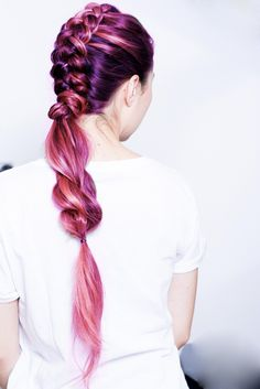 Healthy looking colored hair. Easy braided ponytail for a glam hairdo.  https://www.stylishcircle.com/trending-fashion/products/beauty-20-2/hair-65-2/for-women-1/order-newest-6